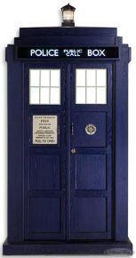 Doctor Who Pappaufsteller Tardis - Fotokulisse