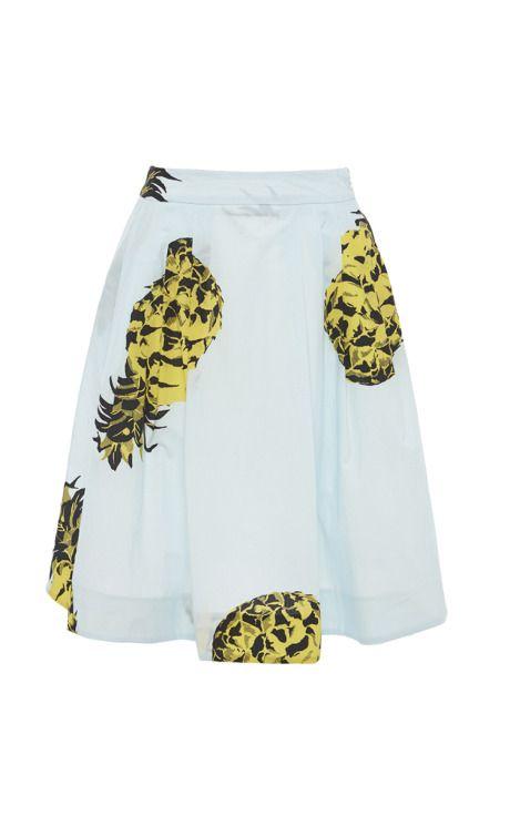 Pineapple Print A-Line Skirt by MSGM for Preorder on Moda Operandi