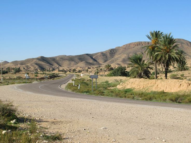 Highway C107 north of Matmata, Tunisia, is rather picturesque.