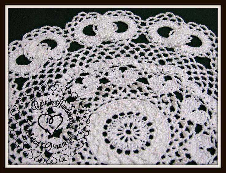 Wedding Lace Doily, featuring intricate raised crochet ...