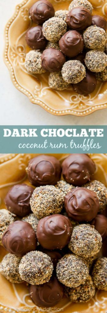 1 bowl coconut rum truffles! These are made with coconut rum, chocolate, honey, toasted pecans, and graham cracker crumbs. So easy!