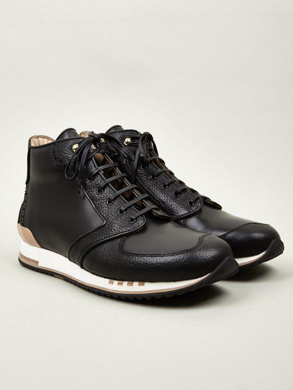 Alexander McQueen Men's Black High Top Sneakers | oki-ni