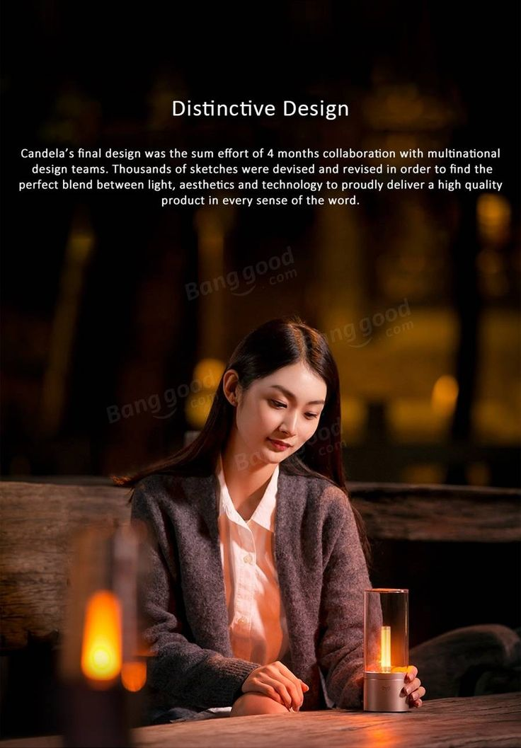 Original Xiaomi Yeelight 6.5W Rechargeable Dimmable LED Candela Candle Night Light Bluetooth Control