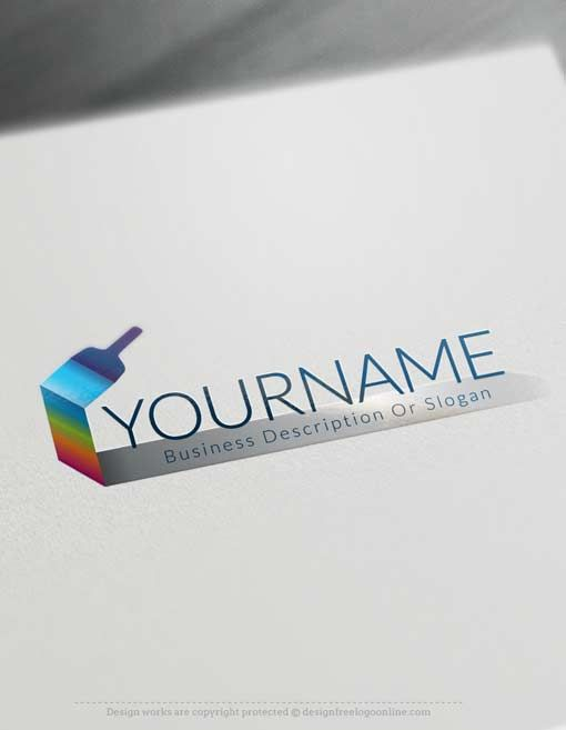 Make Paint Brush Logo Design with our free logo maker