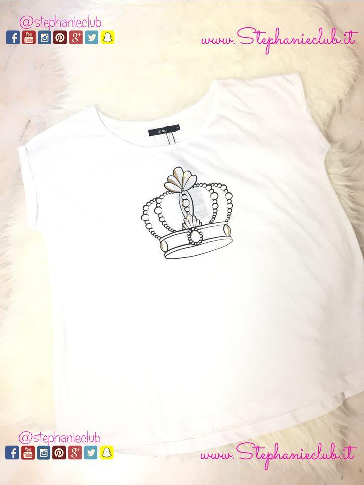 T-Shirt in cotone #ZUIKI #crown