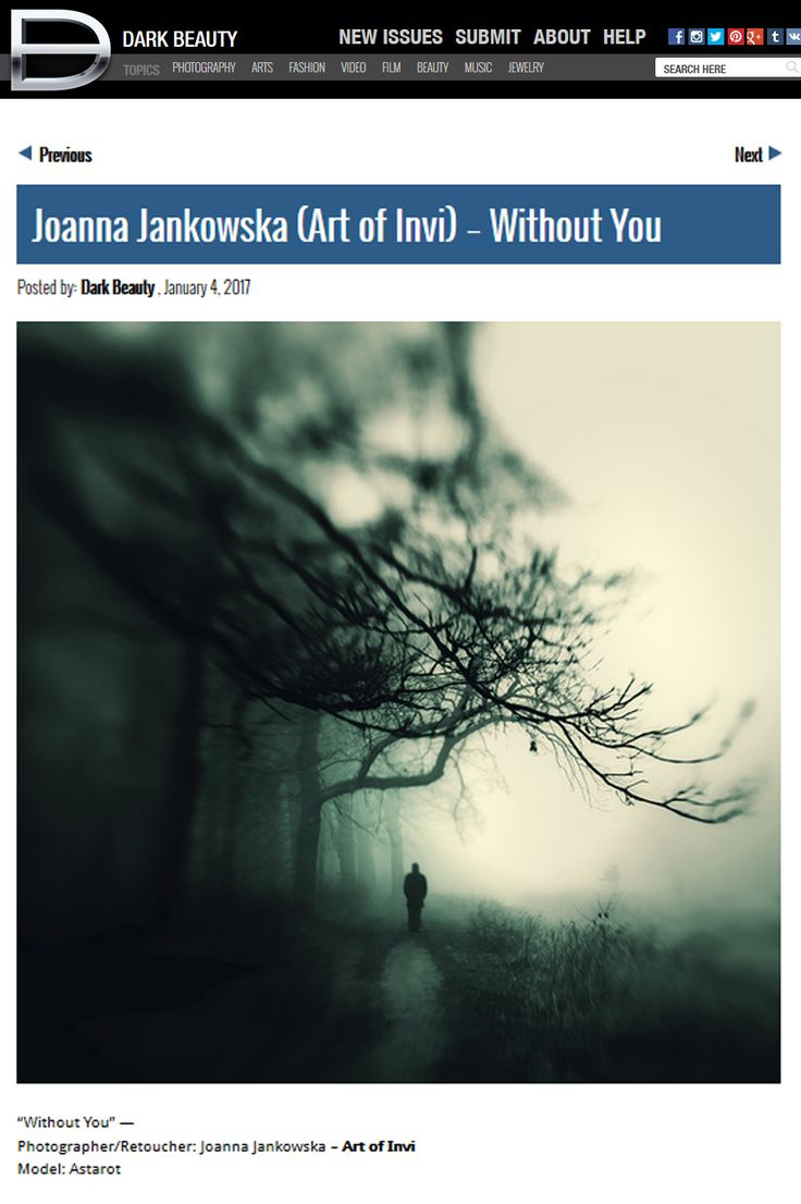 Dark Beauty Magazine publication Joanna Jankowska/Artofinvi art of invi  https://www.facebook.com/artofinvi