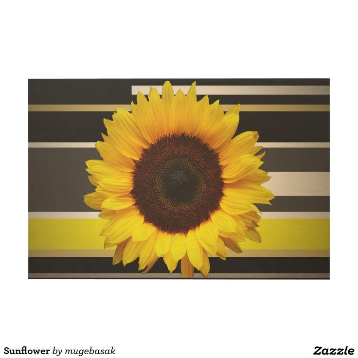 Sunflower Wood Wall Art
