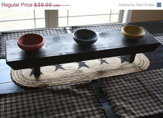 Unique primtiques primitive black quot table riser bench