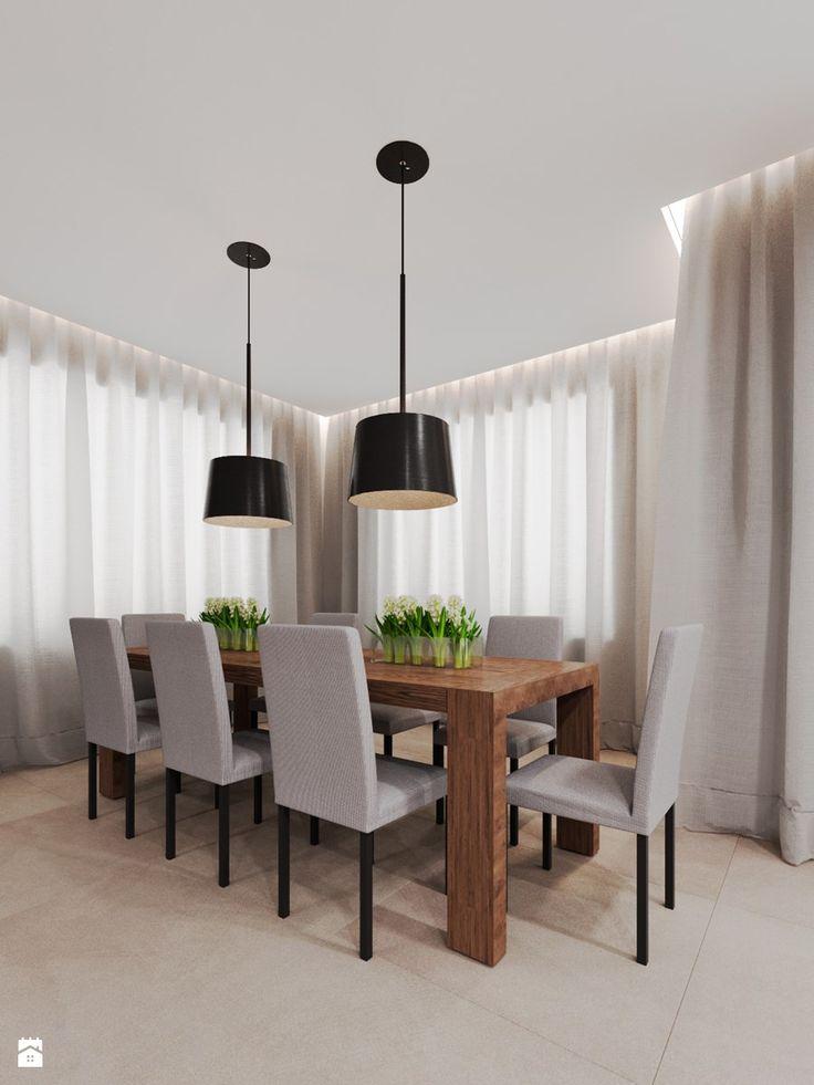 Dom udomowiony - Średnia otwarta jadalnia w salonie, styl tradycyjny - zdjęcie od LIVING BOX