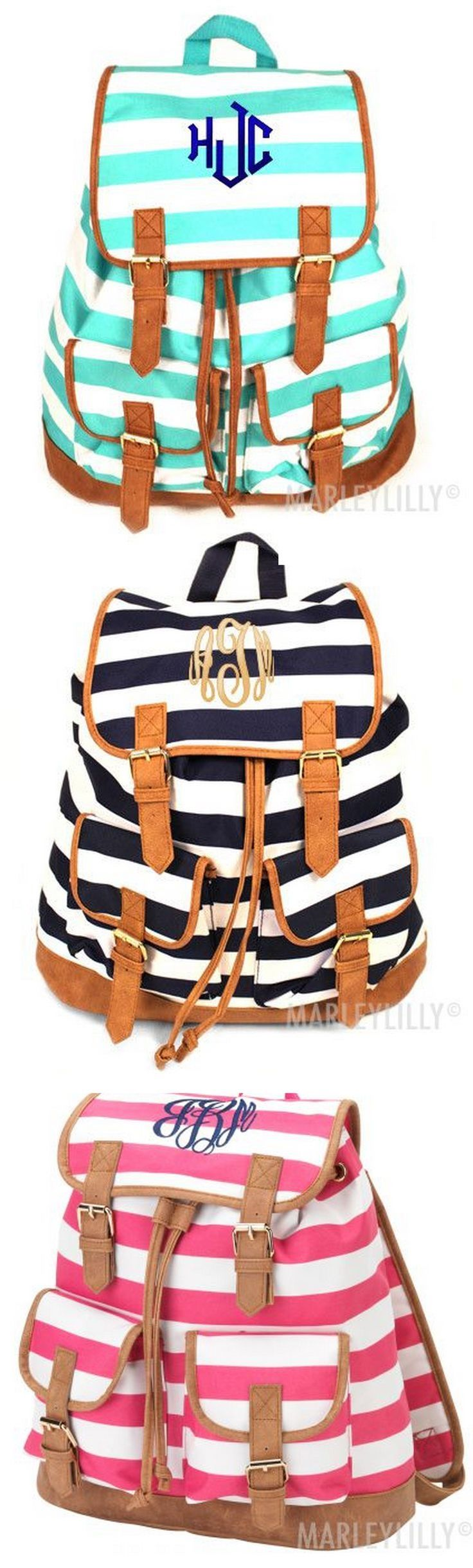 A monogram backpack from Marleylilly