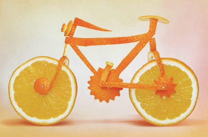 Dan Cretu a professional photographer specialized in eco art....blends food sculpture with photography.
