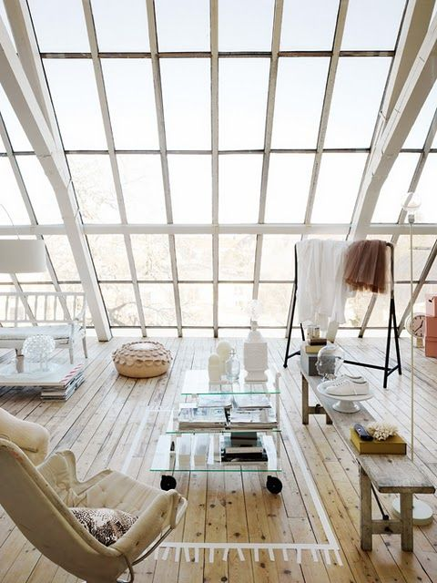 windowsLights, Open Spaces, Dreams, Big Windows, Interiors Design, Living Room, Loft Spaces, House, Rugs