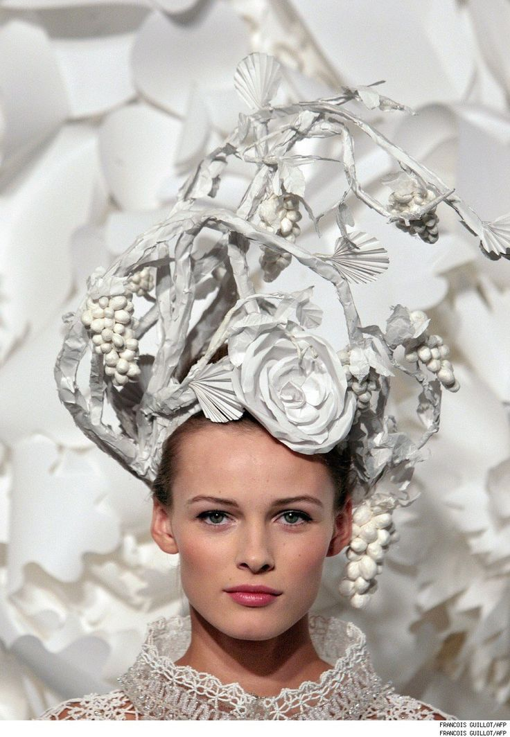 more paper floral goodness from Chanel. Photo by Francois Guillot/AFP.