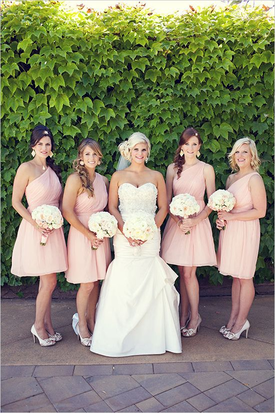 Pink cocktail length dresses bridesmaid dresses for Cocktail dress for outdoor wedding