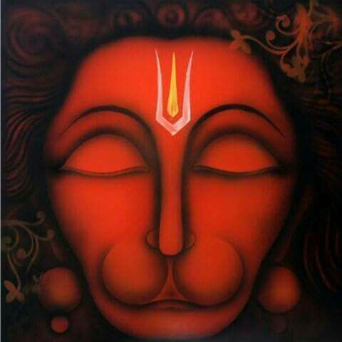 Hanuman calm face