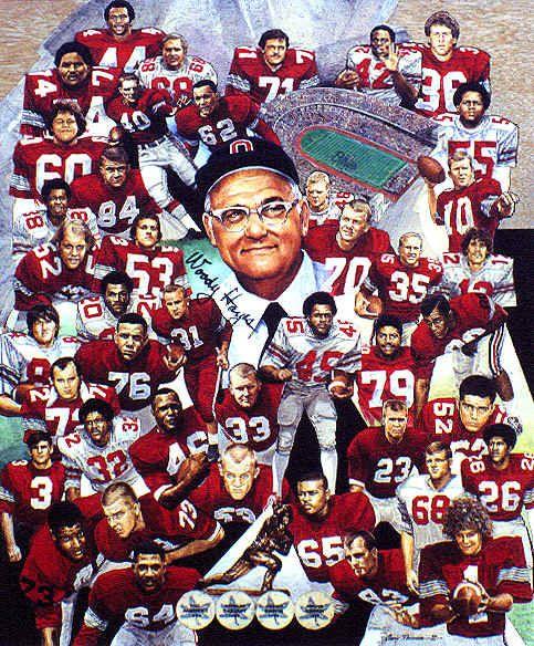 Ohio State University Football Wallpaper | Ohio State Buckeyes Football Coach Woody Hayes Art Print
