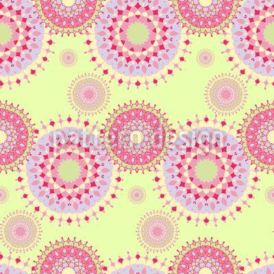 Retro Mandala Circles Repeat Repeat by Elena Alimpieva at patterndesigns.com