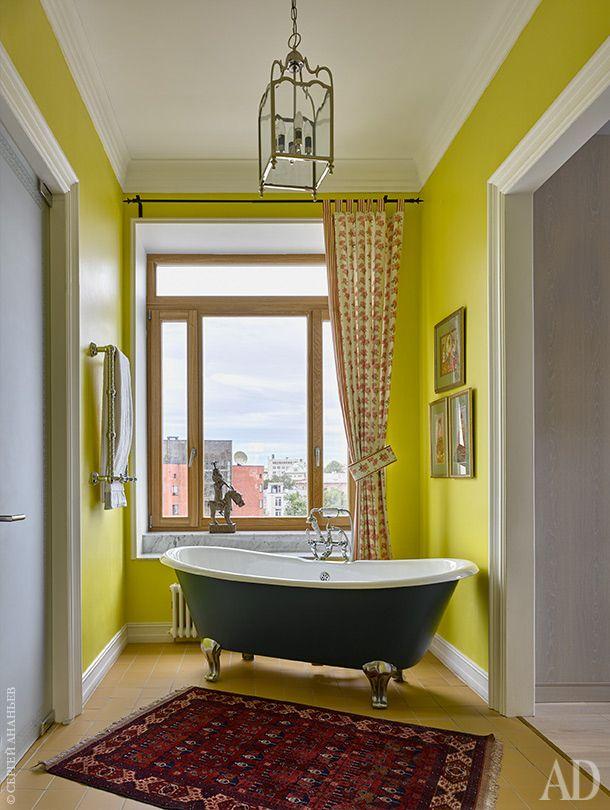 Жёлтый – прекрасный выбор для интерьера яркой ванной комнаты. он будет заряжать позитивной энергией и поможет проснуться утром.