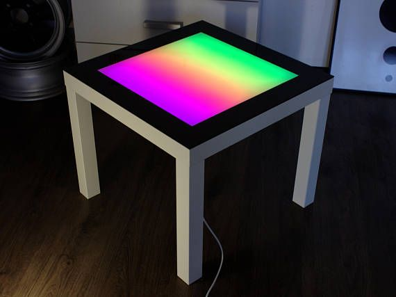 Table With Bright LED Light And Multi Colored Animation