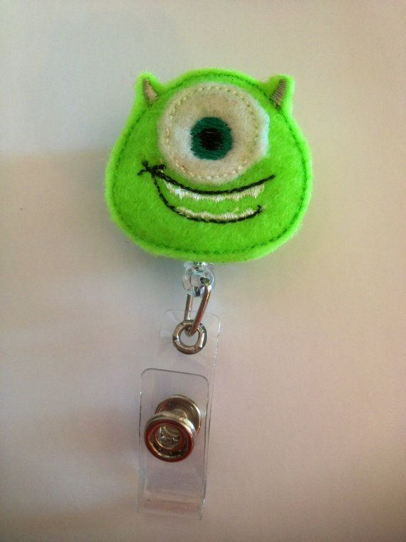Mike from Monsters IncBadge reelName by CrazyCuteByAngela on Etsy, $5.00