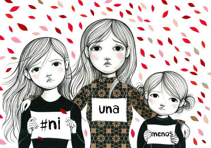"""Consulta este proyecto @Behance: """"#Ni una menos - Ilustración para campaña de Ed. Quipú"""" https://www.behance.net/gallery/38196989/Ni-una-menos-Ilustracion-para-campana-de-Ed-Quipu"""