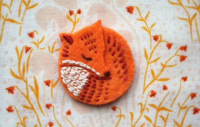 Foxy Brooch by ink caravan, via Flickr