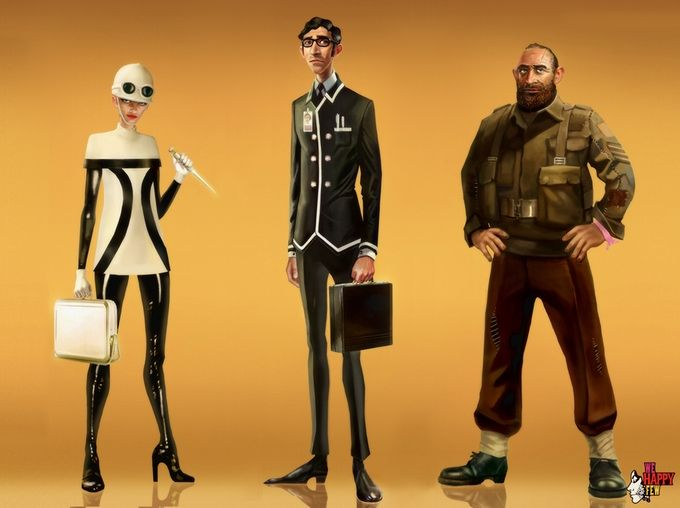 What a handsome bunch of Downers - Concept from We happy few