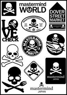 Mastermind Japan MMJ Logo Stickers Set (Z7) - modSticker.com