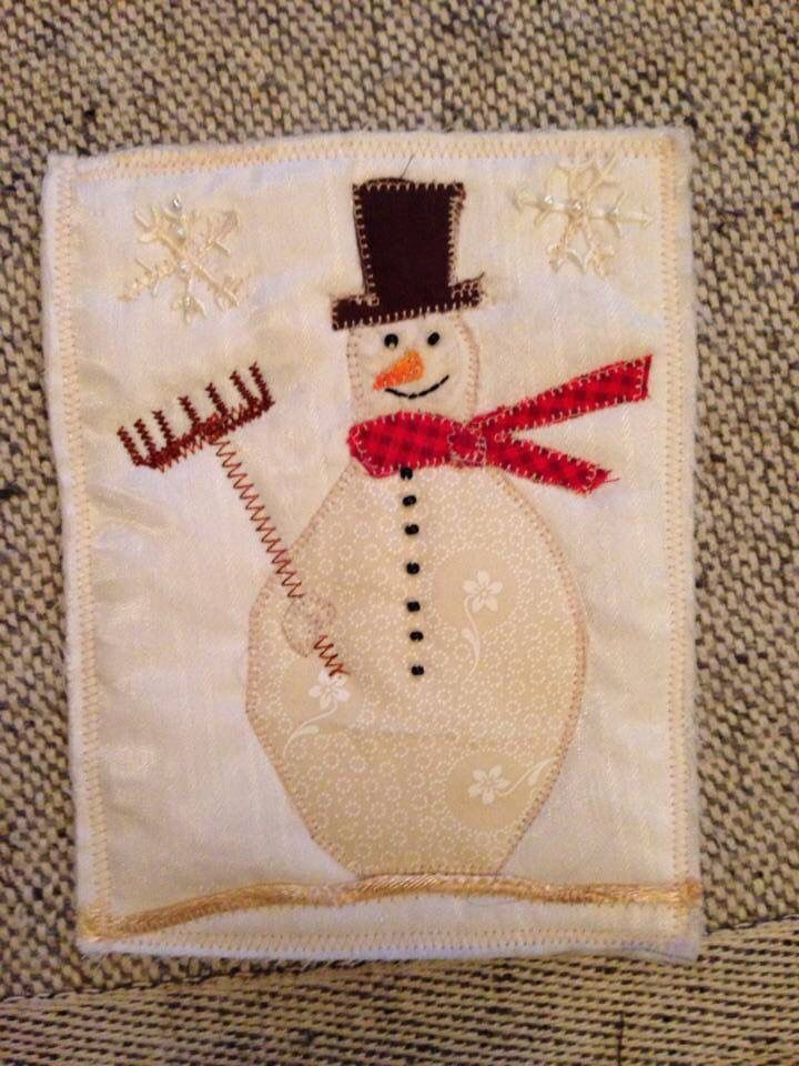 Christmas card for a quilting friend