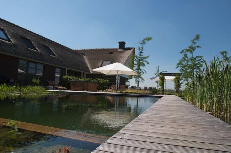 Zwemvijver + hottub vanFlorijk - Voorbeelden - hovenier, hoveniers, hoveniersbedrijf, Brabant, Gelderland, klassiek, modern, landelijk, zakelijk, mediterraan, tuin, tuinen