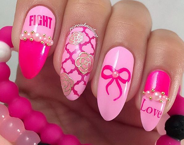 T Cancer Awareness Nail Art Decals Set 2