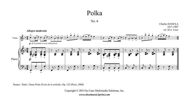 in F Major, Op. 123, Suite 1, No. 6 www.sheetmusic2print.com/Dancla/Polka-123-6.aspx