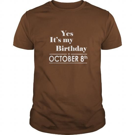 Awesome Tee Birthday October 8 tshirt  Shirt for womens and Men Birthday October 8 - birthday, queens T shirts
