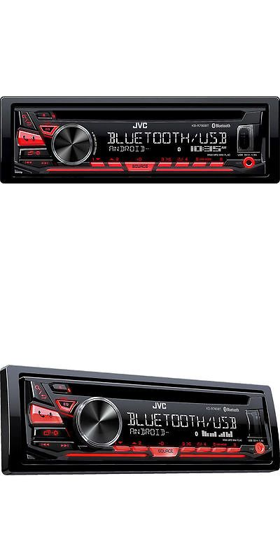 Car Audio In-Dash Units: Jvc Kd-R780bt Single-Din Cd Receiver With Bluetooth And Am Fm Tuner In Black -> BUY IT NOW ONLY: $69.36 on eBay!