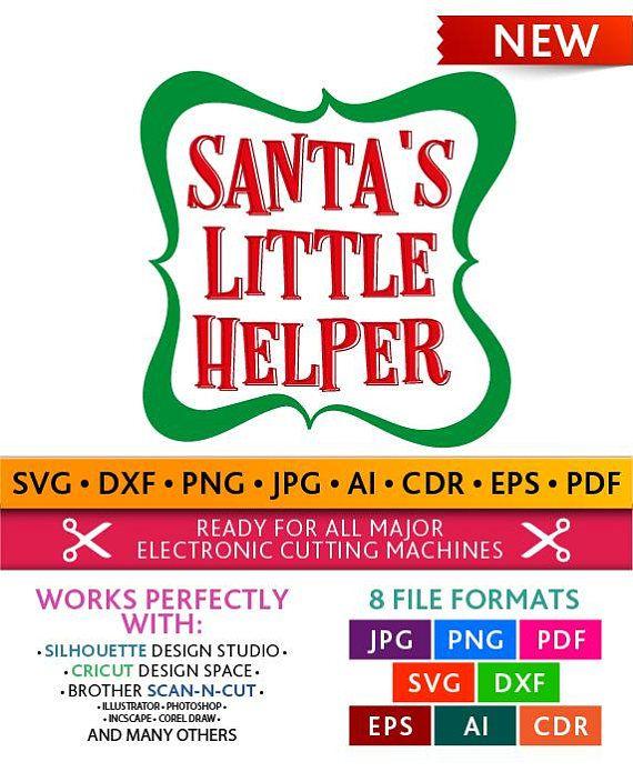 Santa's Little Helper Svg Santa's Little Helper Cut