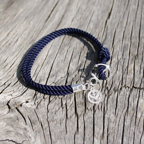 Nautical Rope w/ Small Anchor - The Anchors Aweigh Bracelet   Maris Sal Company