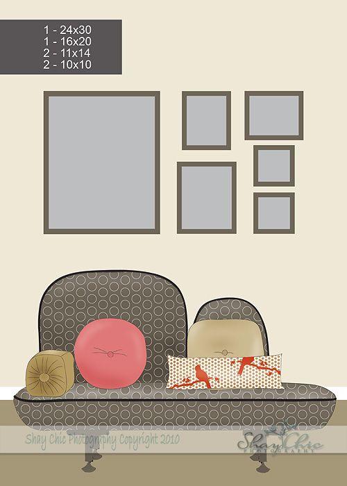 16 best Frame Arrangements images on Pinterest   Home ideas, Wall of ...