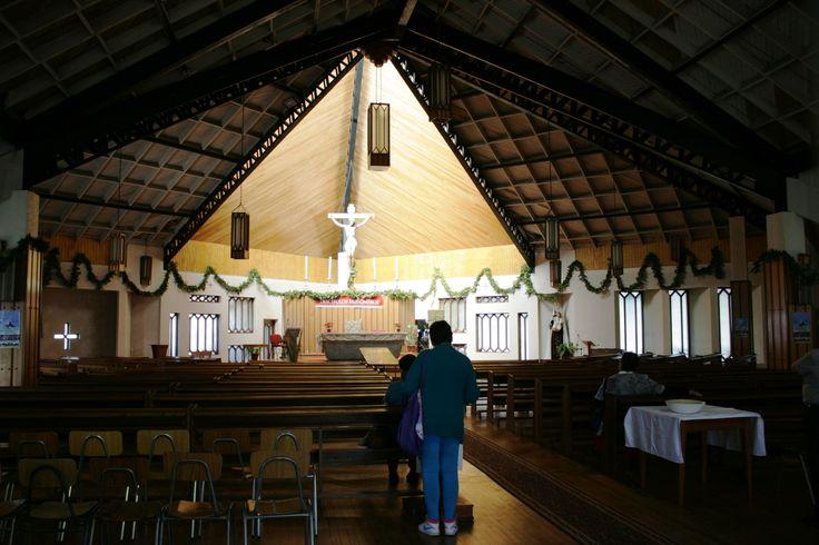 interior de la catedral de Ancud.Isla de Chiloé