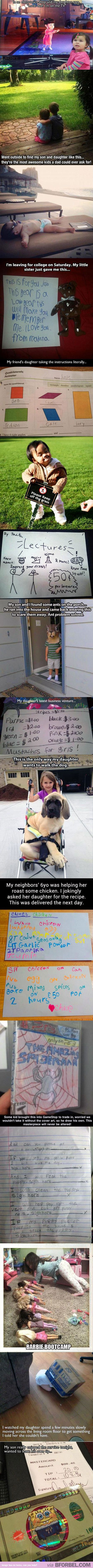 Sometimes I see these things, and I'm AMAZED at how freaking cute kids are…