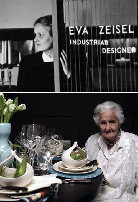Eva Zeisel, the Queen of Organic Design.  I shall always regret not persuading her to do an interview for my website.  Can you just imagine the awe of sitting down at a table where each place setting has one of those gravy boats?  I have five of them, and many of her other pieces, so a fantastic table setting is on the horizon.  Get ready to ooh and aah!