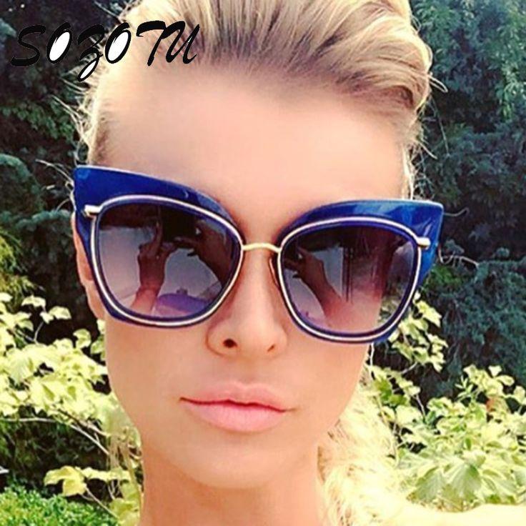 e18fa1051c531 2017 Fashion Cat Eye Sunglasses Women Sun Glasses Ladies Vintage Brand  Designer For Female Photochromic Lunettes