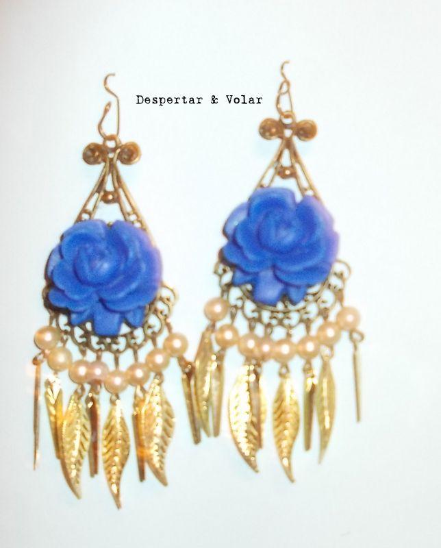 flores, perlas y fantadía dorada