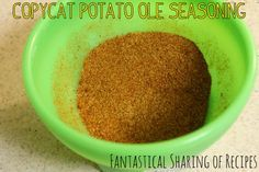 Copycat Potato Ole Seasoning   Taco John's secret weapon for their tatortots #copycat