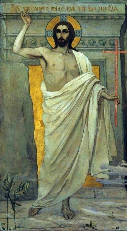 Mikhail Nesterov: La Resurrección de Cristo, 1890.