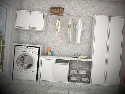 Lavanderia pequena decorada - http://dicasdecoracao.net/lavanderia-pequena-decorada/
