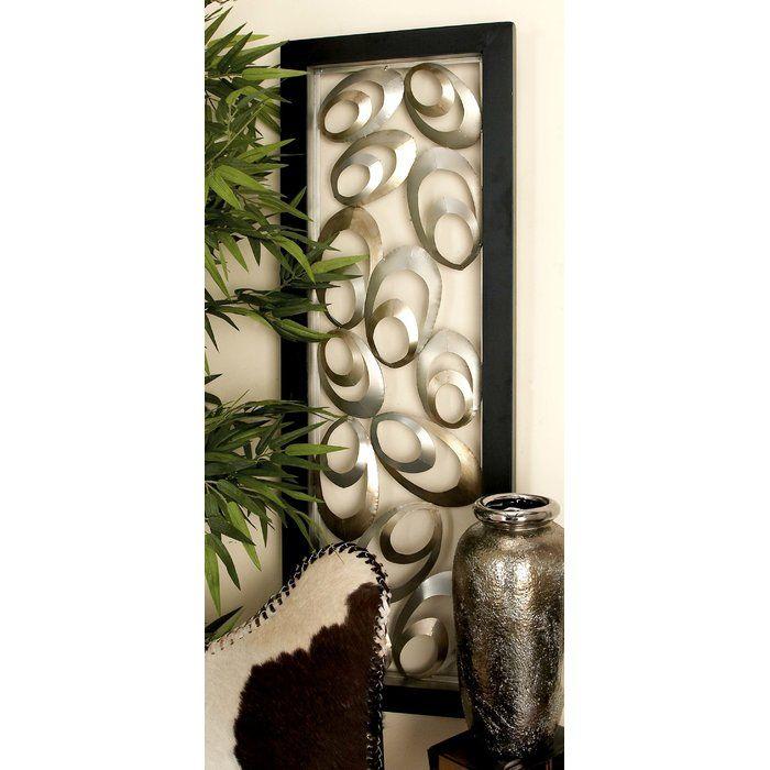 Cole Grey Metal Wall Decor Reviews Wayfair Medallion Wall