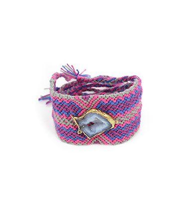 Wayuu Armband met Edelsteen 113 - €39,95