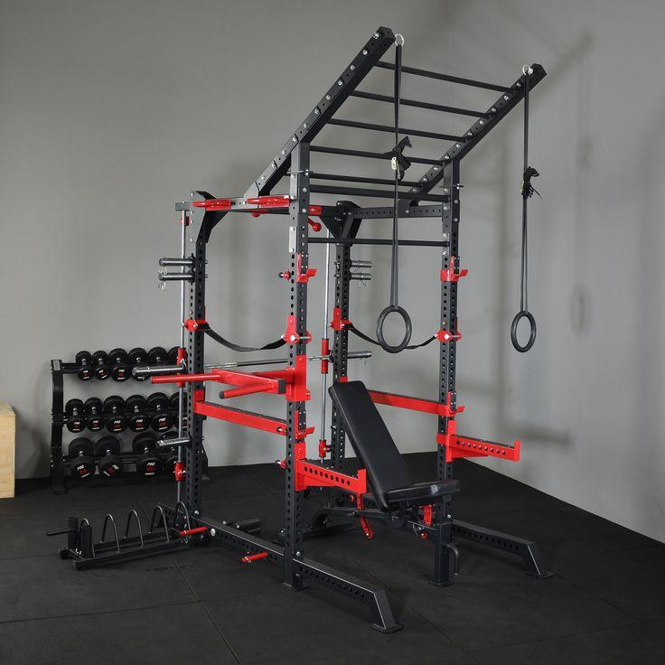 Power Racks & Smith Machines : Power Rack Smith Machine Combo Agility Ladder Bench - Trojan Fitness