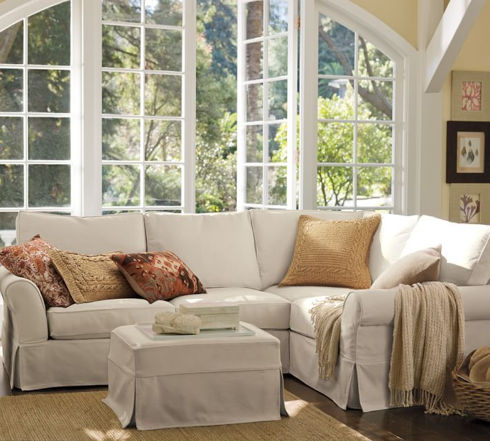PB Comfort Slipcovered 3-Piece Sectional with Corner : pottery barn comfort sectional - Sectionals, Sofas & Couches