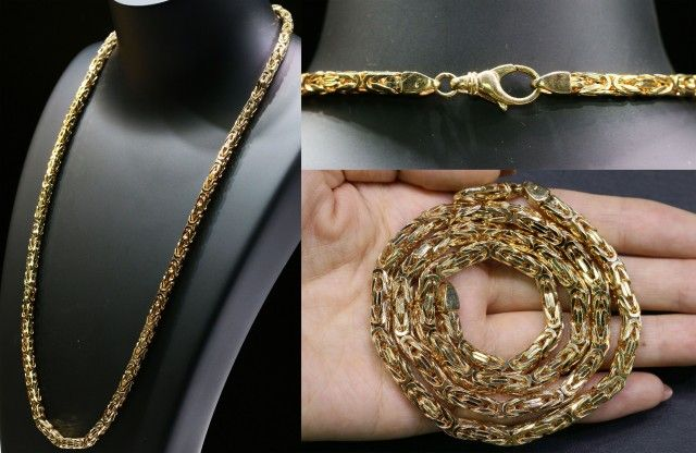 82 grams HEAVY 9 K GOLD CHAIN,  60 CM LONG L320 gold chain , gold jewelry , chain